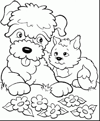 Small Picture excellent dog and cat coloring pages alphabrainsznet