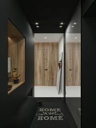 modern apartment living room ideas black. Black Entrance Hallway In Modern Apartment By ID White Interior Design Living Room Ideas R