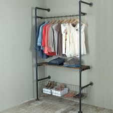 Industrial Pipe Coat Rack Ideas Pipe Closet Best 100 Clothes Rack On Pinterest Diy Pipe Garment 49