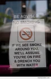 Awesome anti-smoking notice by ben - Meme Center via Relatably.com