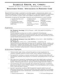 Rn Resume Sample Nurse Impressive Templates Objective Med Surg