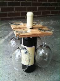 image of homemade wine bottle holder