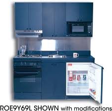 Compact Kitchen Furniture Acme Roe9y69l Compact Kitchen With Laminate Countertop 4 Electric
