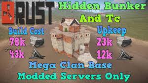 Rust Clan Base Design 2019 Rust 3 2 Mega Clan Base Design Hidden Tc And Bunker