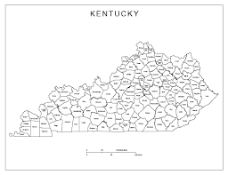 Kentucky labeled map county maps of kentucky