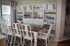 Dining Room Makeover featuring IKEA Faux Built Ins | A Small Snippet