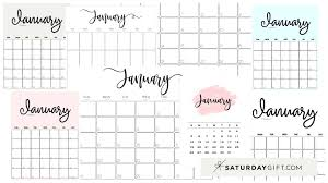 You may customize it the way you want it. Cute Free Printable January 2022 Calendar Saturdaygift