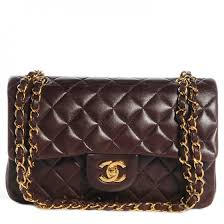 CHANEL Vintage Lambskin Quilted Small Double Flap Bag Brown 73727 & CHANEL Vintage Lambskin Quilted Small Double Flap Bag Brown Adamdwight.com