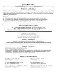 example school librarian resume free sample librarian resume examples