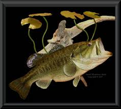 largemouth bass replica bluegill