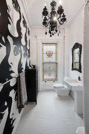 black chandelier bathroom eclectic with black and white black chandeliers