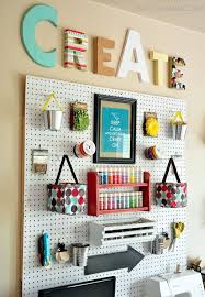 our new sketch collection frame would be a perfect fit in any craft room with it s fun chalkboard finish use it to custom frame peg boards like this one  on craft room wall decorations with diy home decor ideas pinterest cork boards organizing and