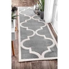 gray trellis rug runner