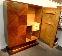 art moderne furniture. Classy Carpenter Made Custom Bar Cabinets And Armoire Added Cube Wooden Pattern Doors As Classic · Art Deco Moderne Furniture