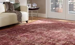 nourison silk shadows wine hand knotted 4x6 rug room shot