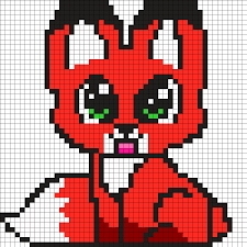 Baby Fox Perler Bead Pattern Pixel Art Pinterest Hama