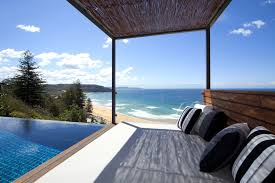 infinity pool beach house. Black Sofa Set For Modern Private House Design Tiny Houses Plans Infinity Pool With Wooden Deck Beach