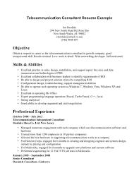 Telecommunication Resume Example Low Voltage Technician Resume