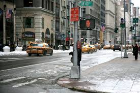 Nyc Weather Neighbourhood Street Lighting Sidewalk Urban Ny Fifthavenue Manhattan Crossing Lane Infrastructure Town Midtown Free Alley City Newyork Area Downtown Surface Pedestrian Winter Midtownwest Newyorkcity Snow Images Road