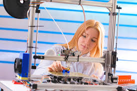 Printer Technician Technician Using 3d Printer