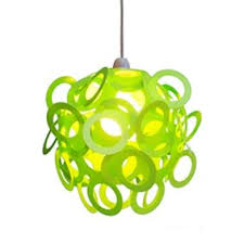 funky lighting. green funky loopy lampshade lighting s
