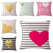 decorative euro pillows. Plain Euro Cushion Cover Geometric Letter Love Pillowcases Cotton Linen Printed 18x18  Inches Euro Pillow Covers Decorative Pillows Throughout