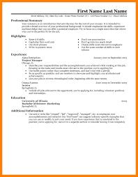 7 Resume Sample Templates Activo Holidays