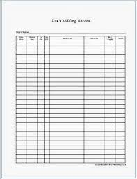 Goat Birthing Chart Recordkeeping On The Homestead Goat Records Including Free