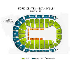 Ford Center Evansville Seating Chart With Seat Numbers Disney On Ice Worlds Of Enchantment Evansville Tickets 5