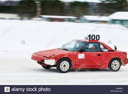 Minden, ontario, Canada winter ice track racing at the fairgrounds ...