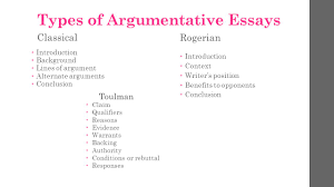 type of argumentative essay types of argument essays