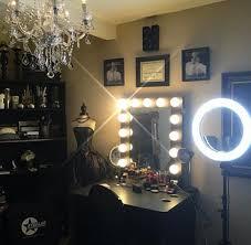 black makeup room inspo
