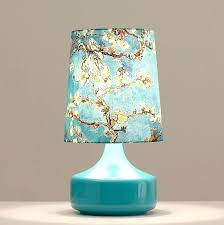blue lamp base small home table lamps blue glass base blue shade with patterns desk lamp blue lamp base