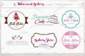 6 Whimsical Bakery Store Logo Bundle Creative Daddy