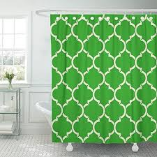 shower curtain abstract light green