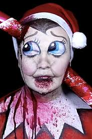 dead elf on the shelf makeup tutorial