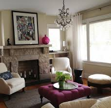 Purple Accent Chairs Living Room Living Room Ideas Makeovers Idees March Colourful Apartment
