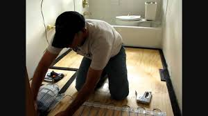 using edge strip kits to install laticrete floor warming system