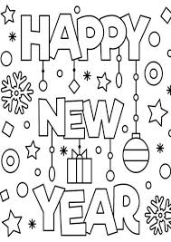 Lots of free to print happy new year colouring pages that are lots of fun for the kids to colour. Free Easy To Print Happy New Year Coloring Pages Tulamama