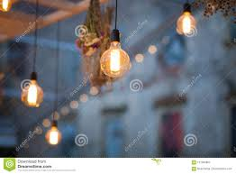 Orange Garden Lights Rustic Light Bulb Garden Lights Stock Image Image Of Decor