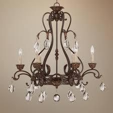 classy eleon 28 1 2 wide 6 light bronze chandelier for your lighting direct chandeliers