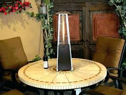 small outdoor heater patio table leisure heaters propane bistro