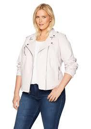 levi s women s plus size classic faux leather motorcycle jacket