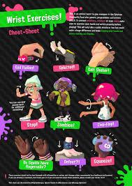 Splatoon 2 Brand Chart Wrist Exercises Before Playing Games Like Splatoon 2 My