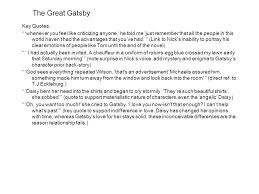 Important Quotes From The Great Gatsby Inspiration AS Revision Themes Aspects Of Narratives The Great Gatsby Themes