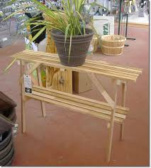 Decorations:Outdoor Flower Pot Shelf Stand Idea Cedar Wood Plant Stand Idea