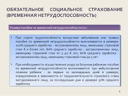 дипломная презентация по обязательному социальному страхованию в рф Виды обеспечения по социальному страхованию 8 8 ОБЯЗАТЕЛЬНОЕ СОЦИАЛЬНОЕ СТРАХОВАНИЕ