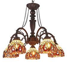 chloe lighting serenity tiffany style 5 light victorian large chandelier 27 wide