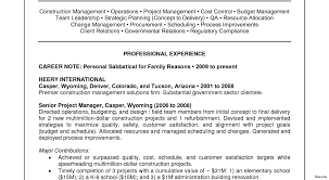 Construction Project Manager Resume Sample Manager Management Contemporary 100 Project Resume Examples Advice 83