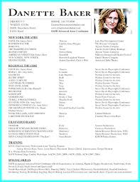 Acting Resume Simple 60 Ideal Acting Resume Builder Ff E60 Resume Samples